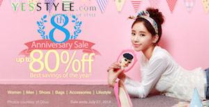 YesStyle's 8th Anniversary Sale